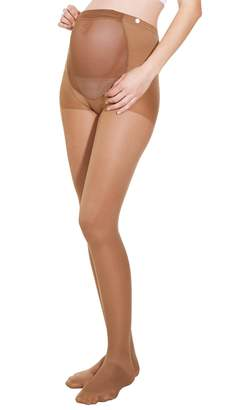 Fashionable Alpha Medical 1-20 mmHg Moderate Graduated Compression Maternity Pantyhose with Adj. Waistband, Fine Italian Made Sheer Pregnancy Pantyhose (Size )