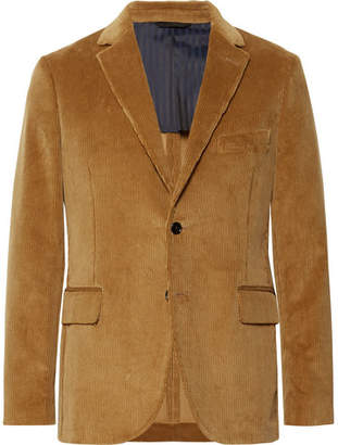 Piombo MP Massimo Camel Slim-Fit Cotton-Corduroy Suit Jacket