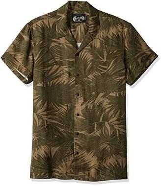 Scotch & Soda Men's Shortsleeve Tencel Shirt with Hawaii Collar