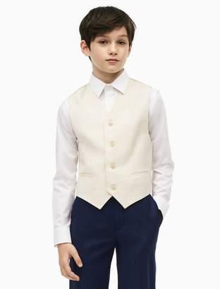 Calvin Klein boys slub button-front vest