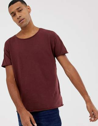 Nudie Jeans Roger slub t-shirt in plum