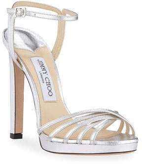 Jimmy Choo Lilah Metallic Leather High-Heel Sandals