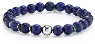 Lapis Mr. Lowe Men's & Wavy Disc Bracelet, Size M