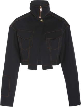 Proenza Schouler Cropped Stretch Denim Jacket