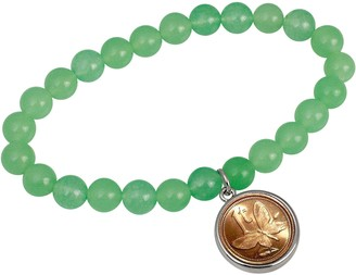 American Coin Treasures Butterfly Coin Aventurine Bracelet