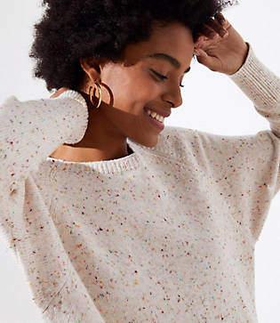 LOFT Speckled Dolman Sweater