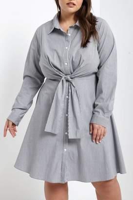 Soprano Tie-Waist Shirt Dress