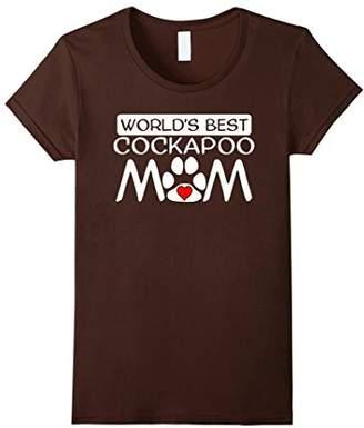 World's Best Cockapoo Mom Dog Owner Paw Print T-Shirt