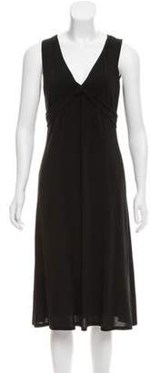 Max Mara V-Neck Midi Dress
