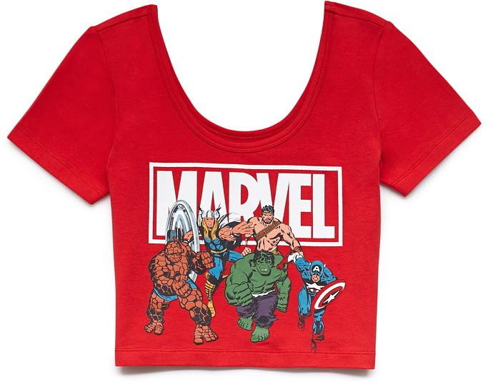 Forever 21 Marvel Superheroes Crop Top