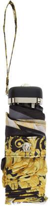 Versace Black and Gold Barocco Umbrella