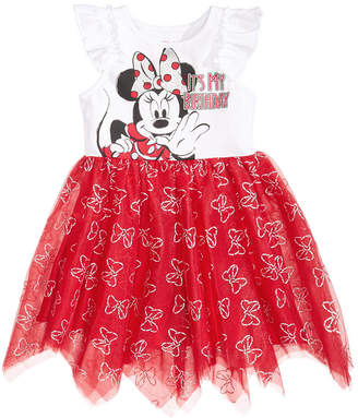 Disney Disney's Minnie Mouse Handkerchief-Hem Birthday Dress, Little Girls