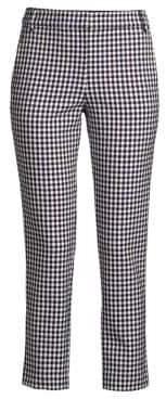 Tibi Cropped Gingham Pants
