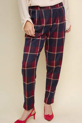 Umgee USA Plaid High-Waisted Trousers