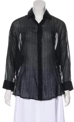 Elizabeth and James Pin-stripe Long Sleeve Shirt