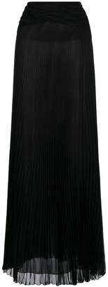 Roberto Cavalli pleated sheer maxi skirt