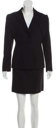 Giorgio Armani Structured Wool Skirt Suit