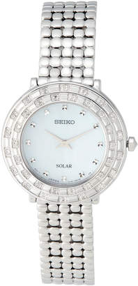 Seiko SUP373 Silver-Tone Watch