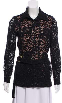 Alexis Point Collar Lace Jacket