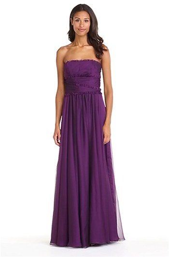 Monique Lhuillier ML Bridesmaids Strapless Chiffon Gown (Nordstrom Exclusive) (Regular & Plus Size)