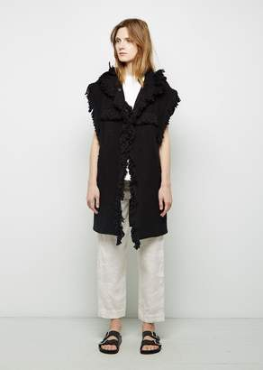 Isabel Marant Edita Fringe Vest Jacket Black