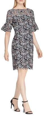 Ralph Lauren Bell-Sleeve Lace Dress
