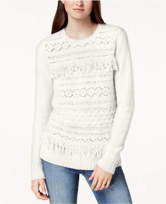 Kensie Fringe-Trim Sweater