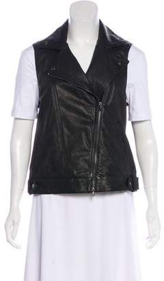 Theory Leather Sleeveless Vest w/ Tags