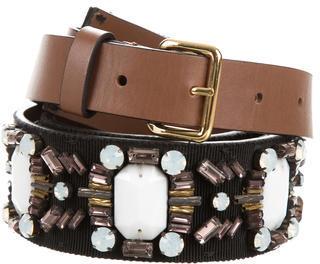 MarniMarni Grosgrain Jewel-Embellished Belt