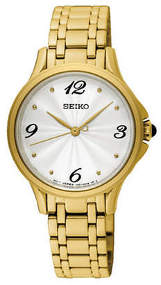 Seiko Analog Yellow Gold Stainless Steel Bracelet Watch