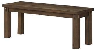 ACME Furniture Acme Nabirye Wooden Seat Bench with Square Leg in Dark Oak
