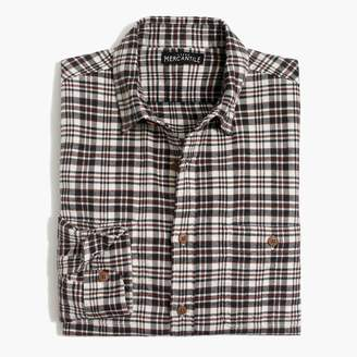 Mercantile Tall slim-fit heather flannel shirt in plaid