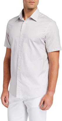 Michael Kors Cole Short-Sleeve Printed Sport Shirt