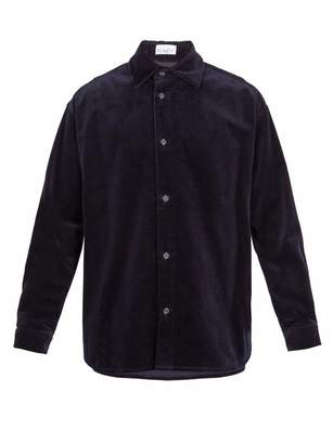 Raey Elephant Corduroy Shirt - Mens - Navy