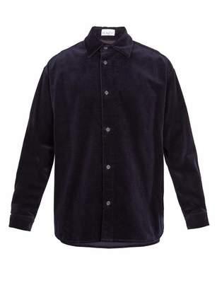Raey - Elephant Corduroy Shirt - Mens - Navy