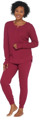 Anybody AnyBody Regular Cozy Knit Waffle Pajama Set