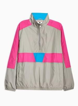 Topman Mens Multi Grey Overhead Windbreaker Jacket