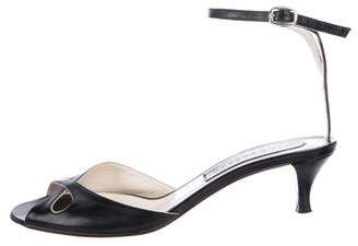 Marc Jacobs Leather Ankle-Strap Sandals