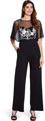 Adrianna Papell Black & Ivory Long Jumpsuit