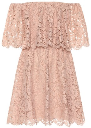 Valentino Floral lace minidress