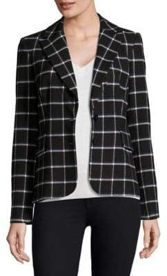 Derek Lam 10 Crosby Plaid Blazer