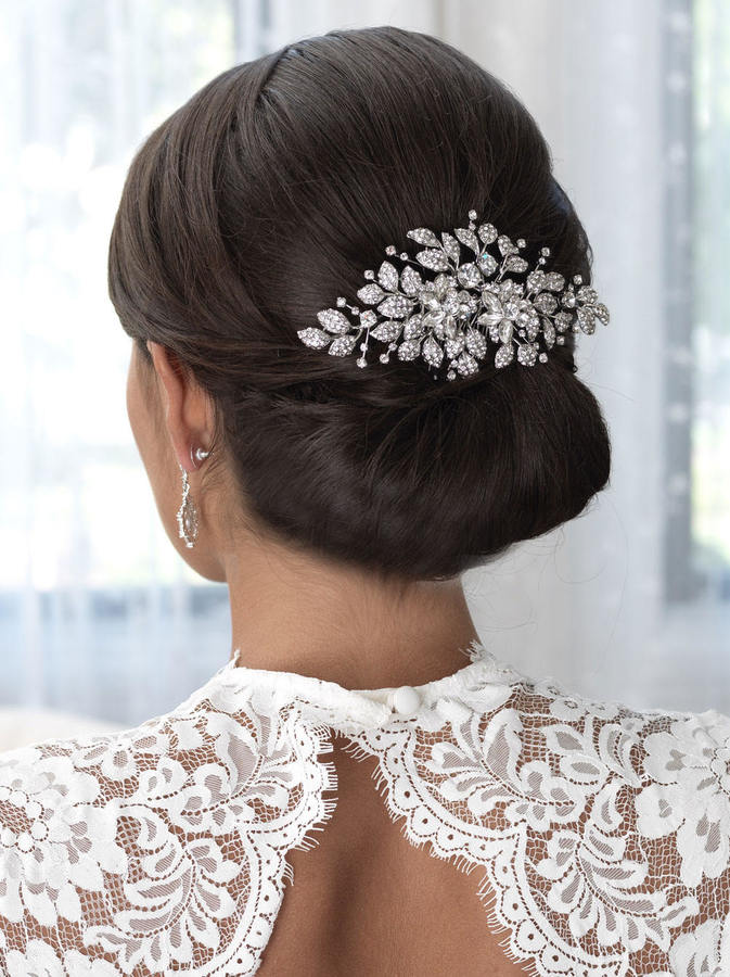 Etsy Floral Bridal Hair Comb, Floral Wedding Hair Comb, Wedding Comb, Bridal Comb, Rhinestone Hair Comb,