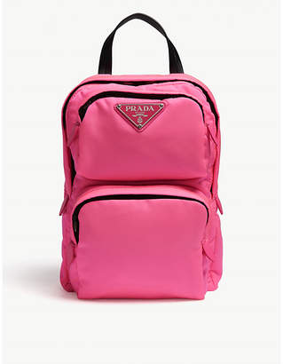 Prada Fuchsia Pink One Shoulder Backpack