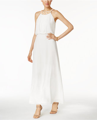 Nine West Chiffon Embellished Maxi Dress $89 thestylecure.com