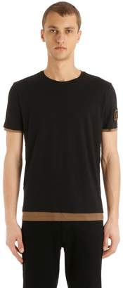 Fendi Ff Patch Double Layer Jersey T-Shirt