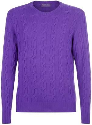 Ralph Lauren Purple Label Cable Knit Sweater