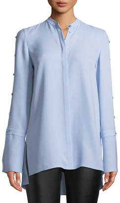 Lafayette 148 New York Nicolette Silk Double Georgette Blouse