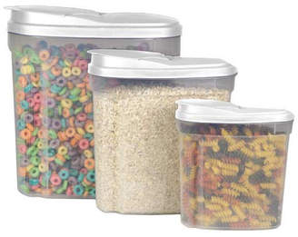 Home Basics 3 Canister Cereal Dispenser Set