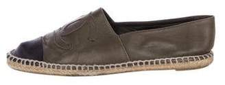 Chanel Leather CC Espadrilles