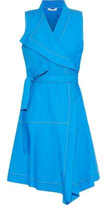 Derek Lam 10 Crosby Cotton-Poplin Mini Wrap Dress